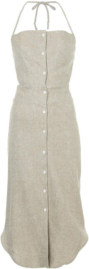 CHRISTOPHER ESBER halter button down dress