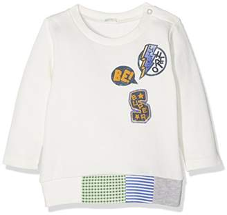Benetton Baby Girls' Cotton Blend Longsleeve Sweater Sweatshirt, (White 0)
