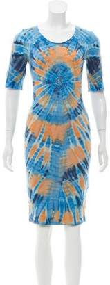 Raquel Allegra Tie-Dye Print T-Shirt Dress w/ Tags