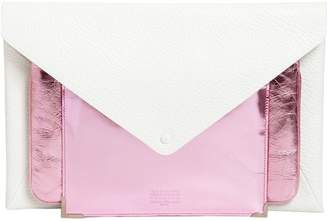 Maison Margiela Cluster Leather & Metallic Clutch