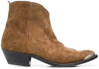 Golden Goose young leather cowboy boots