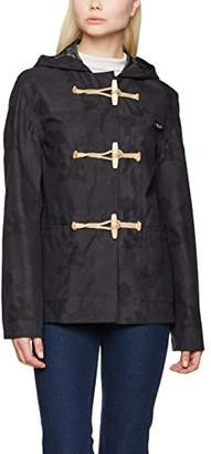 Gloverall Women's Summer Duffle Coat, (Black), (Size:Large)