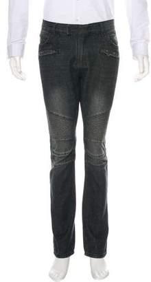 Balmain Slim-Fit Moto Jeans