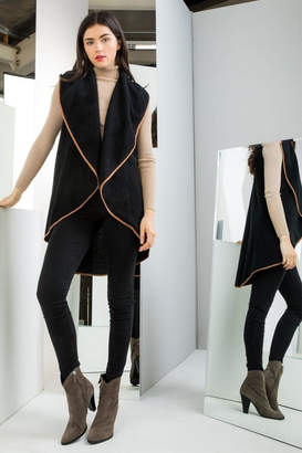 Thml Clothing Draped Vest Black