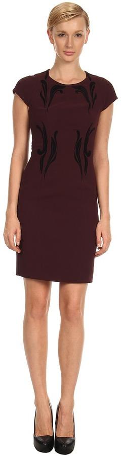 Rachel Roy Flocked Dress 10426659 (Chambord) - Apparel
