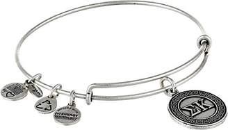 Alex and Ani Sorority Sigma Kappa Expandable Rafaelian Silver-Tone Wire Bangle Bracelet