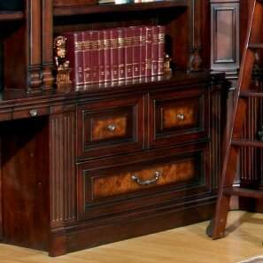 LIBRARY Astoria Grand Lucien 2-Drawer Lateral File Astoria Grand