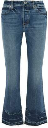 Helmut Lang Faded Mid-Rise Flared Jeans