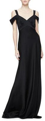 Theia Cold-Shoulder Open-Back Gown $995 thestylecure.com