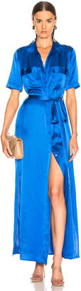 L'Agence Klement Cargo Pocket Dress in Riviera Blue | FWRD