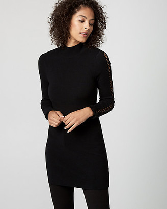 Le Château Rib Lace-Up Sleeve Sweater