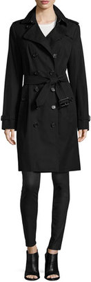 Burberry The Sandringham - Long Slim Fit Heritage Trenchcoat $1,895 thestylecure.com