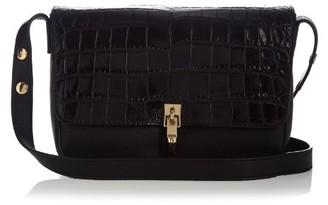 ELIZABETH AND JAMES Cynnie crocodile-effect leather shoulder bag $445 thestylecure.com