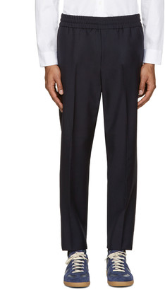 Acne Studios Navy Wool Ryder Trousers $310 thestylecure.com