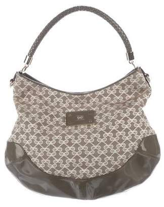 Anya Hindmarch Patent Leather-Trimmed Hobo