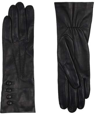 Harrods Silk Lined Elasticated Leather Gloves