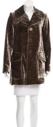 Marc Jacobs Velvet Notch-Lapel Coat
