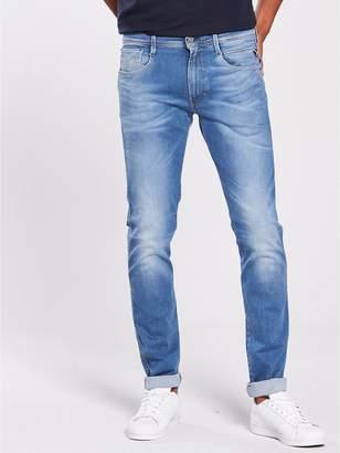 Replay Anbass Hyperflex Laserblast Slim Stretch Jeans