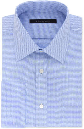 Sean John Men's Regular Fit Textured Solid French Cuff Dress Shirt