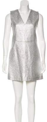 MAISON KITSUNÉ Metallic Tweed Dress