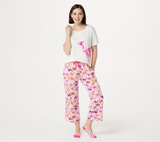 Cuddl Duds Cotton Comfort Getaway Pajama Set with Socks