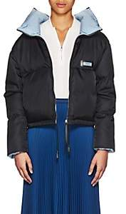 Prada Women's Contrast-Interior Puffer Jacket - Black