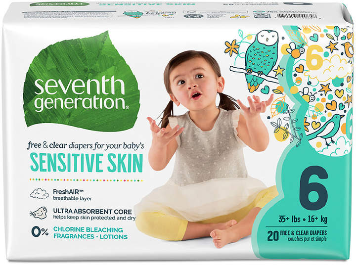 Seventh Generation Baby Free & Clear Diapers Stage 6, 35+ lbs