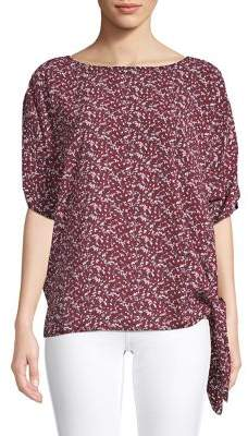 MICHAEL Michael Kors Self-Tie Floral Top