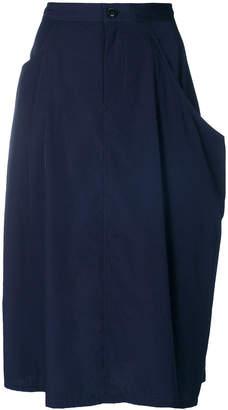 Y's drape midi skirt