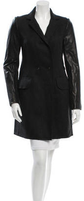 Vera Wang Leather-Accented Wool Coat $295 thestylecure.com