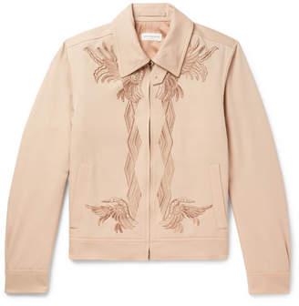 Dries Van Noten Embroidered Wool-Twill Blouson Jacket