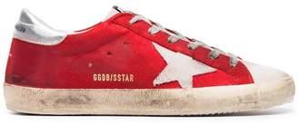 Golden Goose Metallic Red Superstar leather sneakers