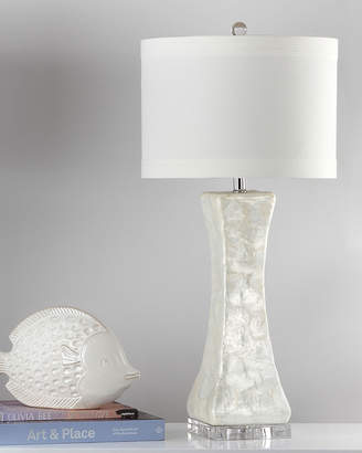 Safavieh Shelley Concave Capiz Shell Table Lamps Set of Two