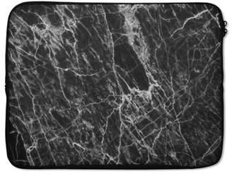 """Frazzle Florrie Black Marble Print Laptop Sleeve 15"""""""