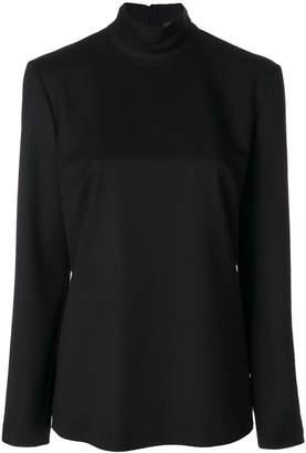 Sara Battaglia back zipped blouse