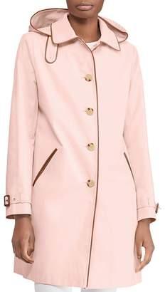 Ralph Lauren Hooded Balmacaan Trench Coat
