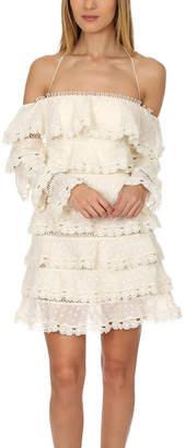 Zimmermann Painted Heart Love Mini Dress