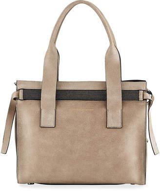 Brunello Cucinelli Buffed Leather Tote Bag