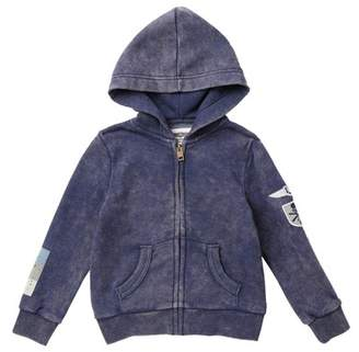 Butter Shoes Super Soft Mineral Wash Zip Hoodie (Little Boys)