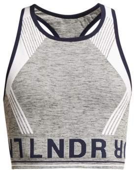 Lndr - Aero Logo Intarsia Sports Bra - Womens - Light Grey