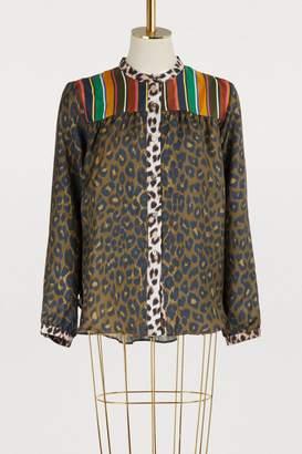 La Prestic Ouiston Panther and leopard shirt