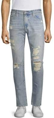 AG Jeans Tellis Distressed Slim-Fit Jeans