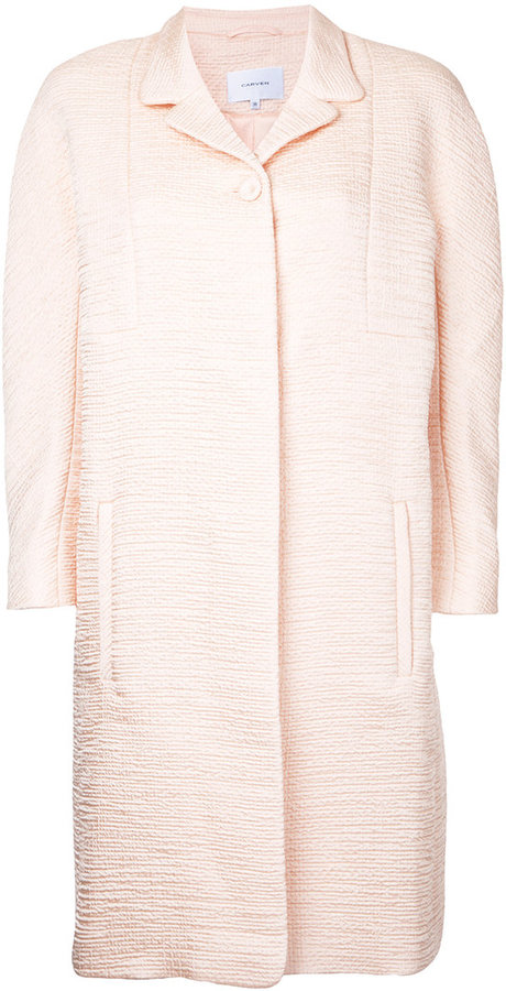 Carven Carven textured midi coat