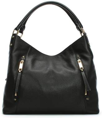 Michael Kors Large Evie Black Leather Shoulder Tote Bag