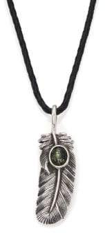 King Baby Studio Turquoise, Leather & Sterling Silver Necklace