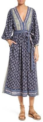 Women's La Vie Rebecca Taylor Indienne Cotton Midi Dress $350 thestylecure.com