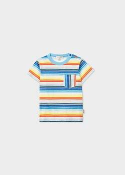 Paul Smith Baby Boys' Multi-Colour Stripe Pocket T-Shirt