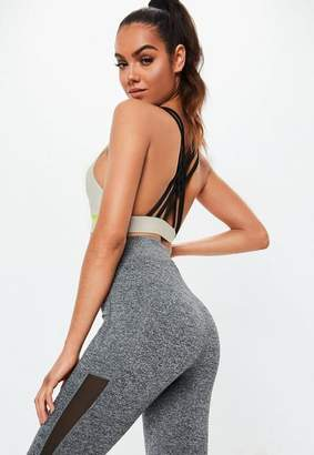 Missguided Active Gray Reflective Crop Top