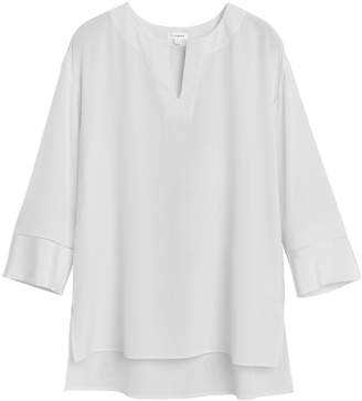 Cuyana Wide Sleeve Silk Blouse