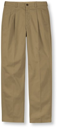 L.L. Bean L.L.Bean Men's Wrinkle-Free Double LA Chinos, Classic Fit Pleated